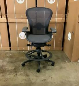 Herman Miller  Aeron Counter Height Stool Floor Model remastered mesh desk chair