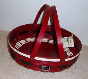 Longaberger SANTA BELLY Bold Red SOCIAL GATHERING Basket ~ 2014