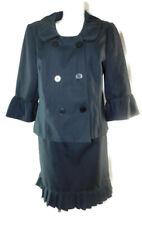 Sweet Suit Women's Gray Herringbone Double-Breasted Pleated Skirt Suit ~ Sz 16W