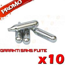 LOT 10 SPARCLETTES SPARCLETTE GAZ CO2 CAPSULE CARTOUCHES AIRSOFT PAINTBALL NEUF