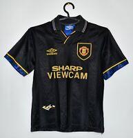 MANCHESTER UNITED 1993/1994/1995 AWAY FULL KIT FOOTBALL SHIRT+SHORTS JERSEY