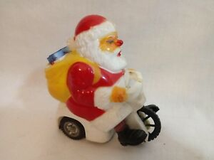 RARE 1960 EL MARX SANTA CLAUS on SCOOTER~packages move~ HARD PLASTIC~FRICTION