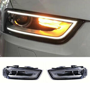 For Audi Q3 LED Headlights Projector HID LED DRL 2013-2015 Replace OEM Halogen