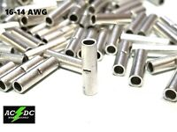 14-16 GAUGE 50 PK UNINSULATED NON INSULATED TINNED BUTT CONNECTOR TERMINAL WIRE
