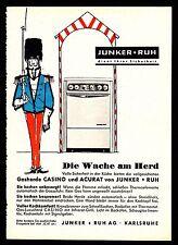 3w1595/ Alte Reklame von 1960 - Junker + Ruh Küchengeräte - Karlsruhe