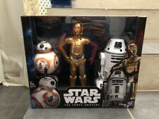 STAR WARS Force Awakens Lot 3 Big Action Figures Exclusivité Carrefour Boxset