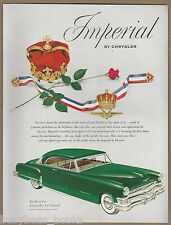 1952 CHRYSLER IMPERIAL advertisement, green hardtop coupe Large size advert