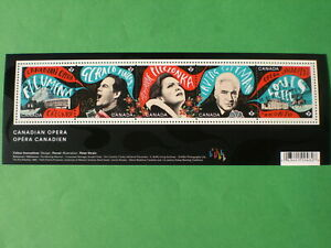 CANADA 2017 S/SHEET CANADIAN OPERA, Sc# 2970, STAMPS #2970a/e. MINT NH