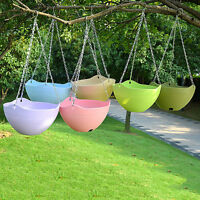 Hanging Flower Pot Chain Plastic Planter Basket Garden Flexible Home Decor  O