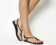 Womens Havaianas Luna Flip Flops Black Sandals