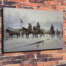 Art Canvas Print Oil Painting Horses for Confederate war Wall Decor  A5899,18x24