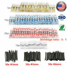 200X Solder Seal Splice Waterproof Heat Shrink Wire Connectors Terminal 22-10AWG