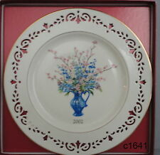 Lenox Colonial Bouquet Plate 2002 Delaware mint in box Eighth In Series