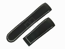 Replacement Black Smooth Leather Band for Ebel Classic XXL