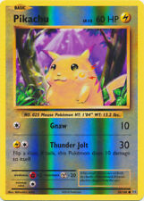 Pikachu - 35/108 - Common - Reverse Holo, Near Mint Pokemon