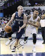 Robbie Hummel Minnesota Timberwolves Signed 8x10 Photo LOM COA (PH2211)