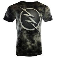 The Flash-Men's T-shirt Vintage-Tie Dye-Tee-DC Comics-Universe100%cotton