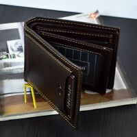 Men's Genuine Leather Credit Card Holder Wallet Bifold ID Coin Cash Purse Clutch