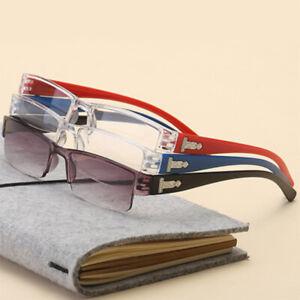 Reading Glasses Rimless Men Women Ultra-light Frameless Spectacles Squar 1.0-4.0