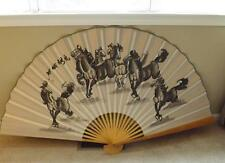 "Orientale Asiatique Bambou 62 "" Cheval Mural Fan Chinois Japonais Rouge Tampon"