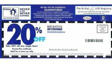 Bed Bath Beyond Coupons Ebay