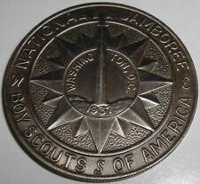 Vintage 1937 Washington DC national boy scout jamboree BSA coin America medal NR