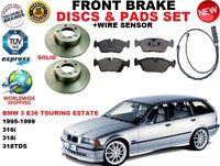 Para BMW 3 E36 Estate 316 318 Sólido Juego de Discos Freno Delantero + Pastillas