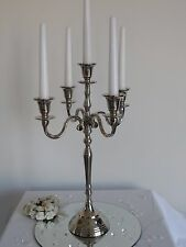 5 Arm Silver Traditional Vintage Aluminium Candelabra Table Centre Piece Wedding