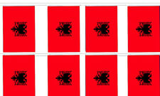 Albania Albanian 12x18 Bunting String Flag Banner (8 Flags)