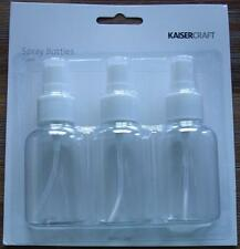 Kaisercraft Spray Bottles 3 Pack Use for Mists Water Mister Mixed Media Products