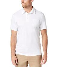 Club Room Mens Pocket Rugby Polo Shirt, White, X-Large