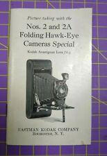 Eastman Kodak Camera 2 & 2A Folding Hawk-eye Instruction Book Manual
