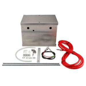 Universal Polished Billet Race Car Complete Aluminum Battery Box Relocation Kit