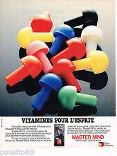 PUBLICITE ADVERTISING 065  1980  MIRO MECCANO  jeux jouets MASTER MIND