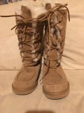 Womens Ugg Uptown Shearling Sheepskin Boots Size 9 Pristine Used Condition
