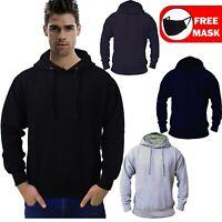 Men's Fleece Pullover Longsleeve Heavy Work Top Hooded Sweat Shirt Gym Clothing