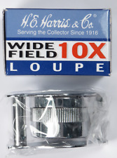 H.E. Harris & Co. 10x Magnification Collectors Wide Field Loupe