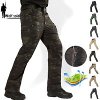 Tactical Military Mens Cargo Pants Army Combat Multi Pocket Waterproof Casual