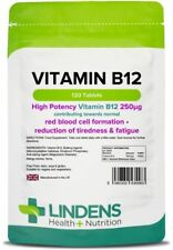 Vitamin B-12 250mcg x 120/360 Tablets; One A Day; Tiredness & Fatigue; Lindens