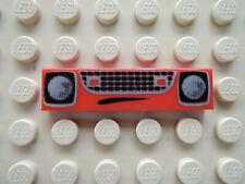 Lego 1 x Fliese 2431pb168   rot  1x4   bedr. KFZ Mund Gitter Lampen 8638