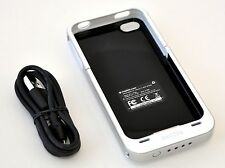 Genuine Mophie Juice Pack Air iPhone 4/4S Rechargeable Battery Case WHITE cover