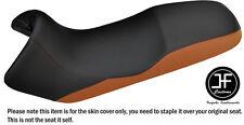 DESIGN 2 BLACK & BROWN VINYL CUSTOM FITS BMW F 650 FUNDURO 93-00 SEAT COVER