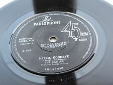 The Beatles ORIGINAL 1967 UK 45 Hello Goodbye Made in France excellent