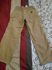 Carhartt  Flannel Lined Dungaree Fit Work Pants as 30 x 30 BRN B111
