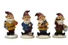 "2.25"" My Fairy Gardens Mini Figures Set of 4 - Gardening Gnomes - Figurine Decor"