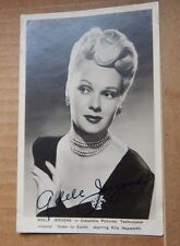 """Vintage film star Postcard / Lobby Adele Jergens """"Down to Earth"""""""