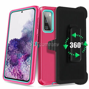 For Samsung Galaxy S20 FE 5G Belt Clip Holster Kickstand Phone Case Cove PINK