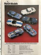 Marsh Models 1/43 Kit : Corvette G.S. Roadster Penske - New in box - MM13A