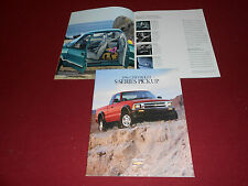 1996 CHEVROLET S-10 PICKUP TRUCK, 38-Page BROCHURE, S-SERIES SALES CATALOG