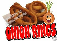 "Onion Rings Decal 14"" Food Truck Concession Restaurant Vinyl Menu Sign Sticker"